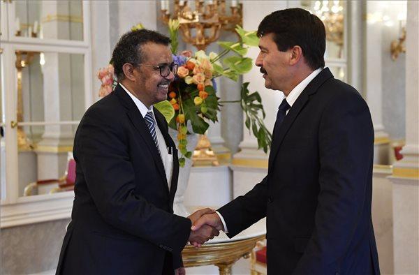 Áder János fogadta a WHO etióp főigazgatóját
